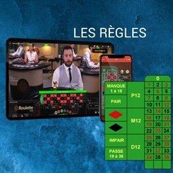 regles paiements roulette live